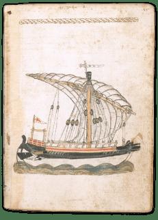 Venetian ship drawn by Michael of Rhodes
