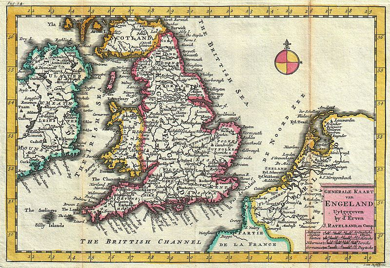 Map Of England 800.18th Century Map Of England Medievalists Net