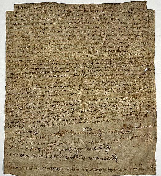 medieval Carolingian charter - Charter of Clothilde
