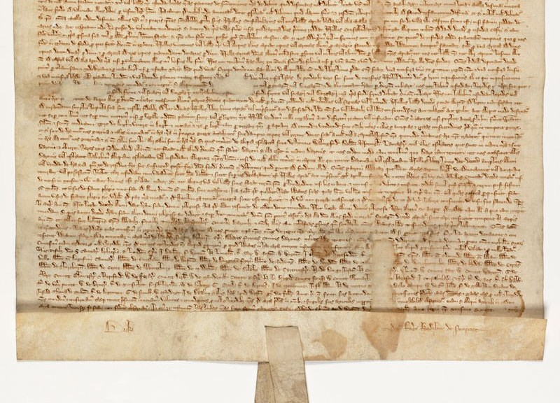1297 Magna Carta after conservation treatment - photo courtesy US National Archives