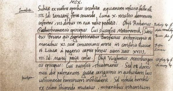 Lithuania's name in writing 1009
