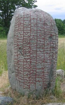 """The Karlevi Runestone is a skaldic Old Norse poem in dróttkvætt, the """"courtly metre"""", raised in memory of a Viking chieftain."""