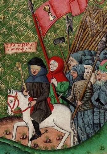 Jan Zizka leading his troops
