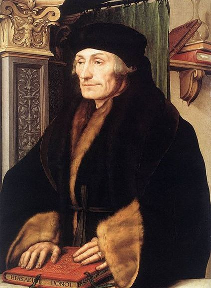Desiderius Erasmus in 1523 as depicted by Hans Holbein the Younger.