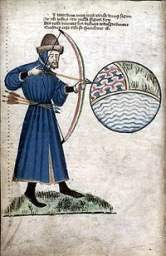 Gower the Archer, Vox Clamantis: Glasgow University Library, MS Hunter 59 [T.2.17] folio 6v.