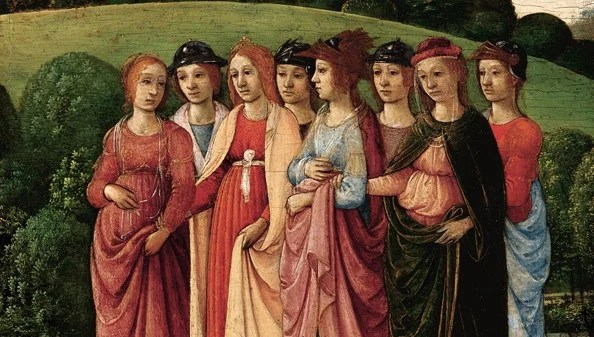 Gherardo di Giovanni del Fora (Florentine, 1444/45-1497), Chaste Women in a Landscape, Probably 1480s,