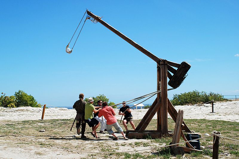 Trebuchet in action - photo by emdee