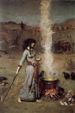 The Magic Circle, John William Waterhouse (1886)