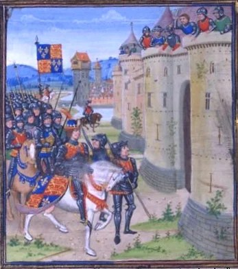 A 15th century French depiction of the siege of Berwick