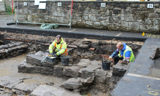 dumfermline archaelogical project - photo courtesy Fife Council