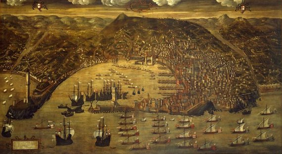 View of Genoa by Christoforo de Grassi (after a drawing of 1481)