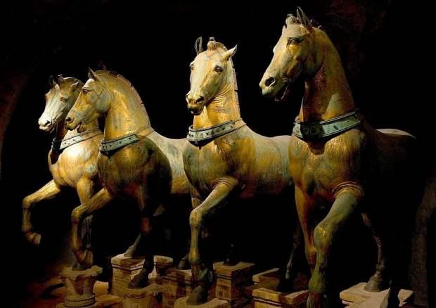 Original Horses Inside Basilica San Marco