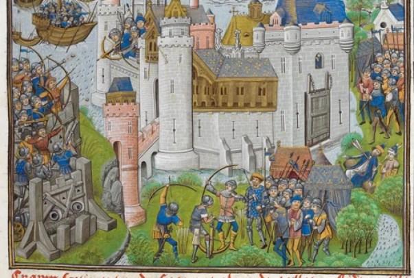 Defensa y asedio de un castillo medieval