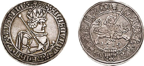 Coin of Sigismund of Austria - photo by Attribution: Classical Numismatic Group, Inc. http://www.cngcoins.com