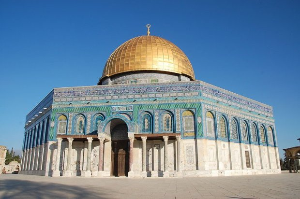 The Dome of The Rock Mosque, in the temple mount. Photo by David Baum