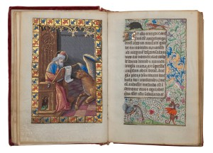 Master of the Chronique Scandaleuse Book of Hours (Use of Paris) In Latin and French, illuminated manuscript on parchment, Paris, c. 1490 13 full-page miniatures, 10 small miniatures, 24 calendar miniatures 16.7 x 11.5 cm.  Image courtesy Les Enluminures