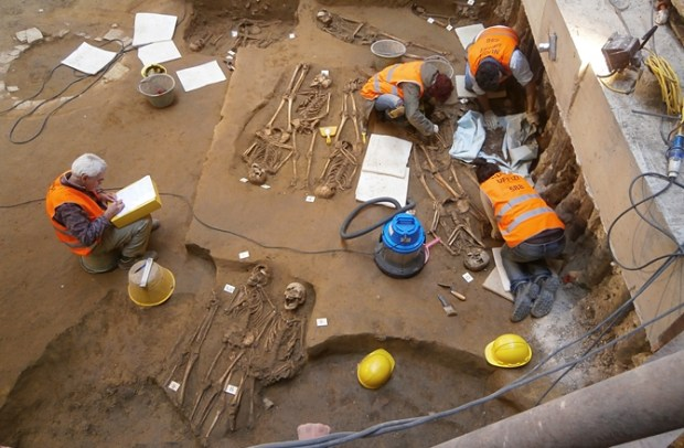 Skeletons found at the Uffizi Gallery - photo courtesy Polo Museale Fiorentino