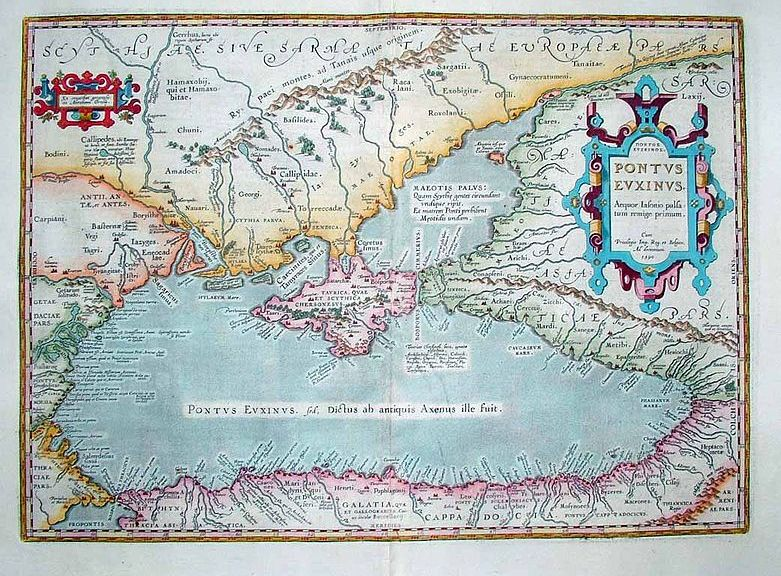 17th century map of the Black Sea region