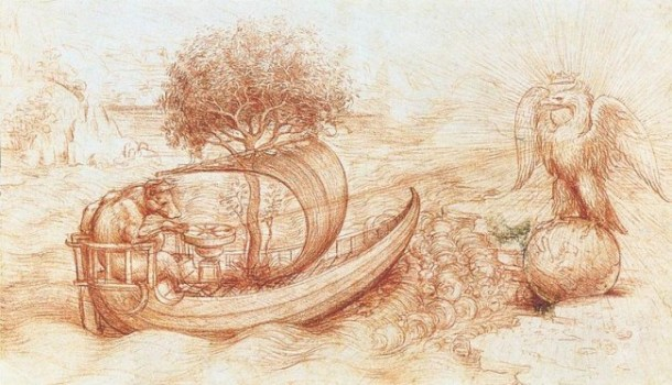 wolf and eagle by Leonardo da Vinci