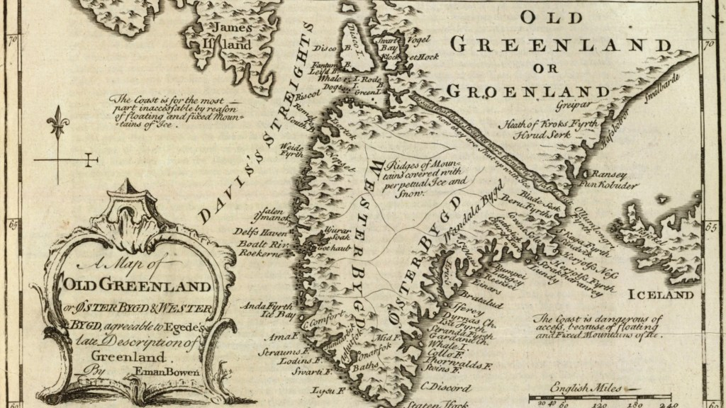 A 1747 map of Greenland