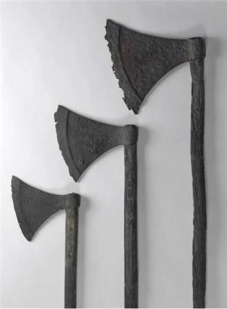 three viking axes
