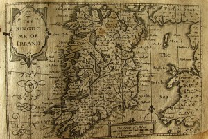 17th century map of Ireland