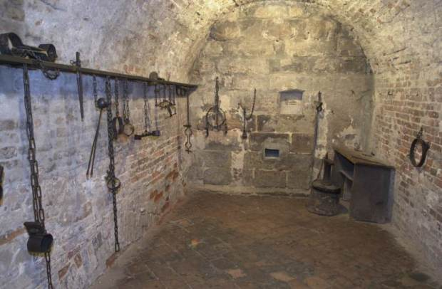 Dungeon in Nuremburg. Prisoners were held here before their execution