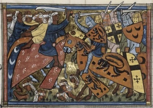The First Crusade -- 14th century depiction of the Battle of Antioch