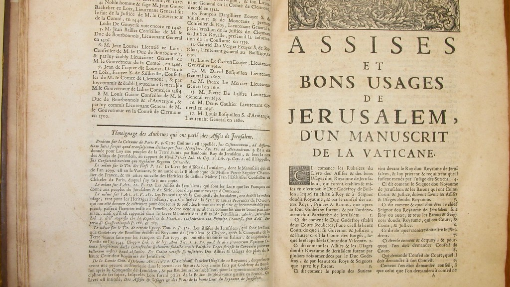 The Assizes of Jerusalem