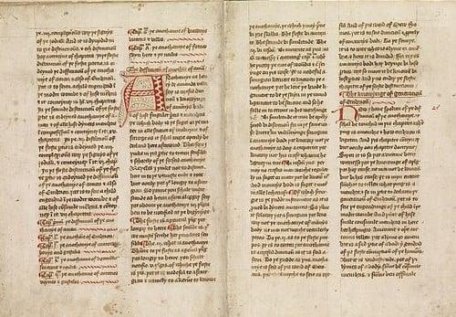 15th century copy of Henri de Mondevilles Chirurgia