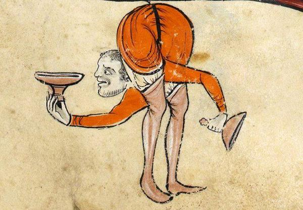 medieval manuscript images contortionist