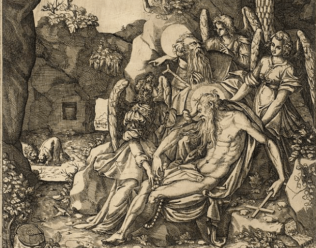Saint Anthony Finds the Hermit Saint Paul Dead in the Arms of Angels