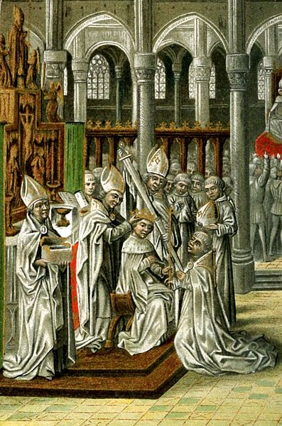 The Coronation of Henry IV of England. From a 15th-century manuscript of Jean Froissart's Chronicles.