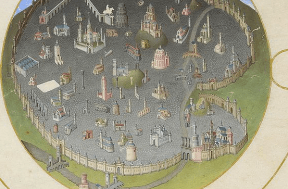 medieval map of rome