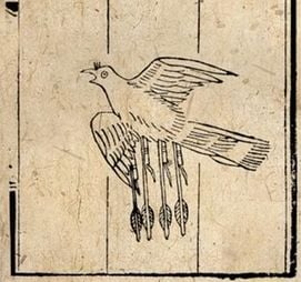 Flying Crow with Magic Fire