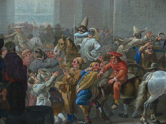 carnival in rome - Jan Lingelbach, 17th century