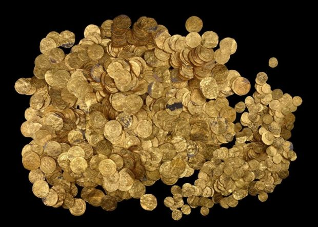 gold coins israel - photo courtesy Israel Antiquities Authority