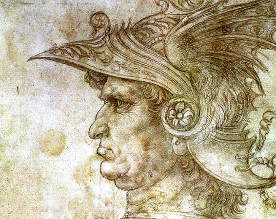 Condottiero drawing by Leonardo da Vinci