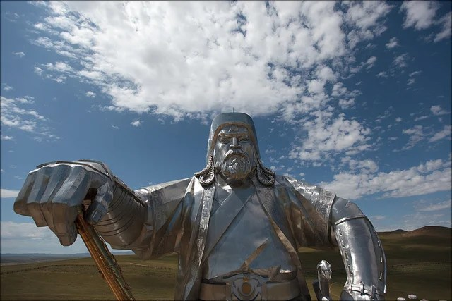 Statue of Genghis Khan - photo by Ludovic Hirlimann / Flickr