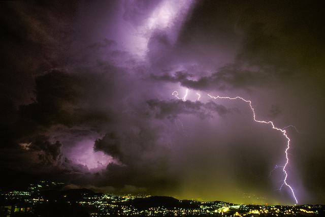 lightning in Italy - photo by Jerry Riedl/ Flickr