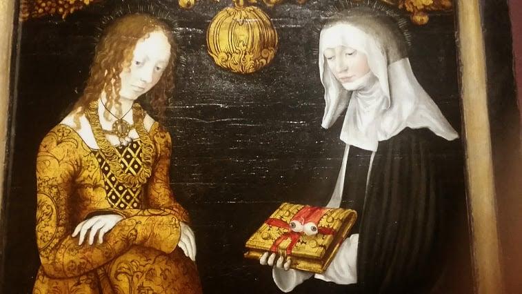 Saints Christina and Ottilia by Lucas Cranach the Elder (1506)