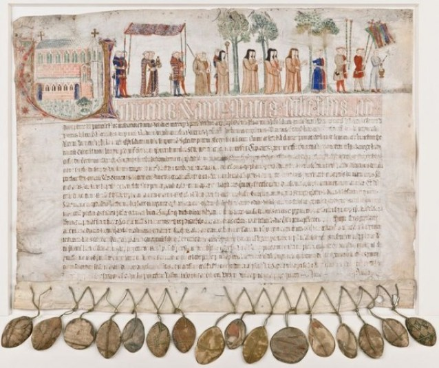 Letter of Indulgence for the Herkenrode Abbey (Source: Flandrica.be | Limburg Provincial Library) [CreativeCommons BY-NC-SA BE 2.0]