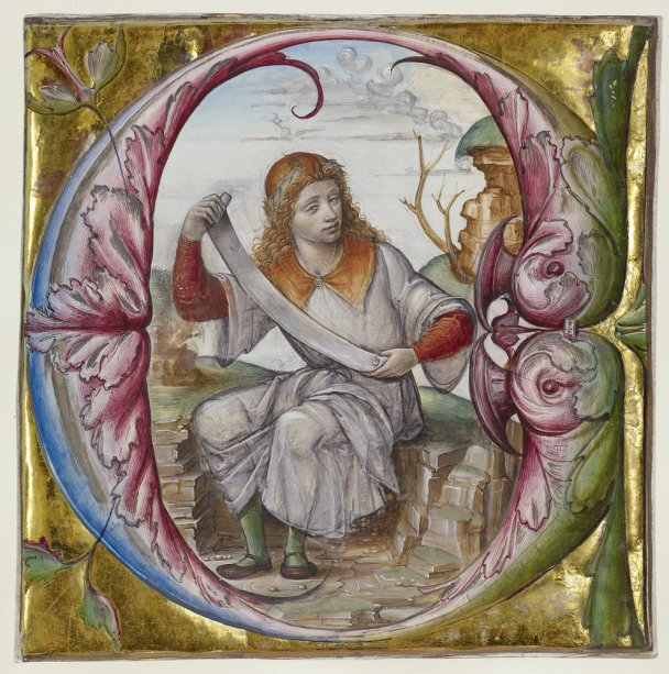 Cutting from an antiphonal - Cutting from an antiphonal, early 16th century. Master B.F. (Italian, active about 1495 - 1510). Tempera and gold leaf on parchment. 6 1/2 x 6 1/2 in. 2009.5. The J. Paul Getty Museum, Los Angeles, Ms. 104