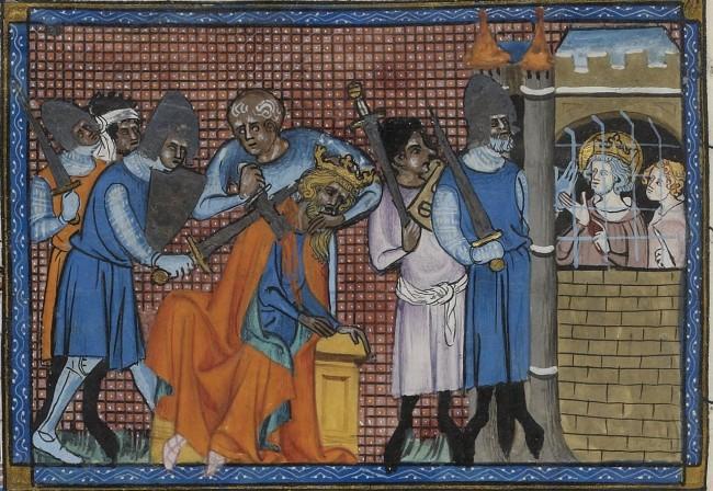 shortest reigns of the Middle ages - assassination of Turanshah - Guillaume de Saint-Pathus, Vie de Saint Louis