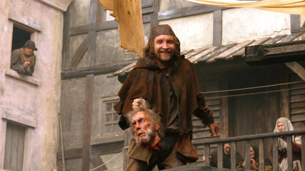 Eddie Marsan as the sleazy, evil Headsman's assistant, Fabio.