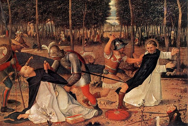 The Murder of St Peter the Martyr, by  Giovanni Bellini