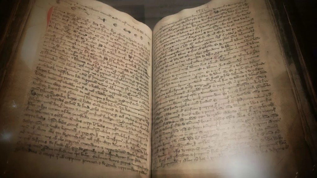 The Black Book of Peterborough. Photo by Medievalists.net