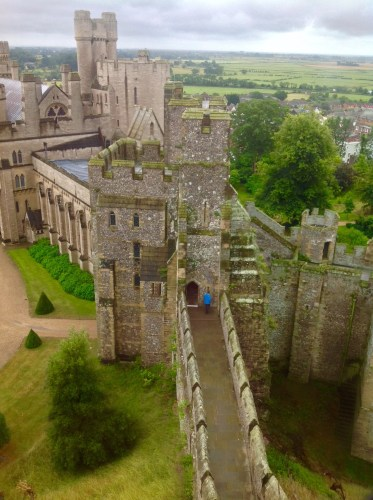 Arundel Castle - view of walkway to the medieval keep. Photo by Medievalists.net