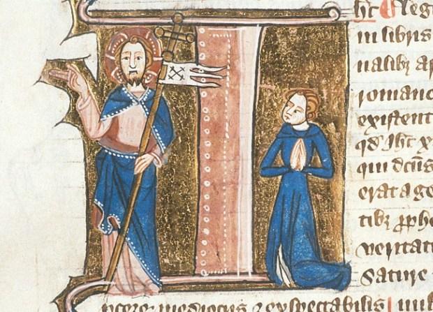 Jesus in Medieval Manuscript - British Library  Royal 6 E VII   f. 232v