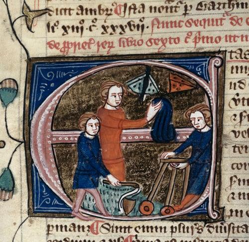 Medieval Children - Omne Bonum - Royal 6 E.VII, f.67v (det). Wiki Commons.